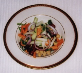 Red Kidney Bean, Chickpea, and Kohlrabi Salad